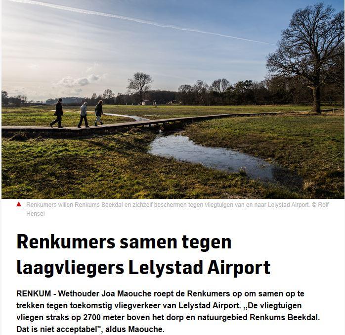 gemeenten renkum en lelystad airport