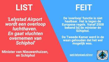 Lelystad Airport wordt geen overloop luchthaven