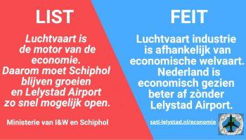 Luchtvaart is niet de motor van de economie